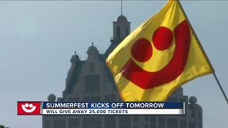 Summerfest giving away 25,000 tickets for opening day - Video