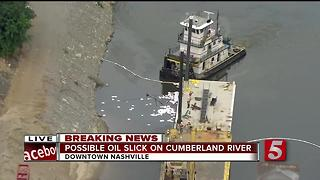 Crews Work To Clean Spill On Cumberland River - Video