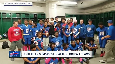 Josh Allen makes surprise appearance at local high school football game