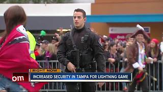 Increased security, law enforcement in downtown Tampa for Lightning hockey season opener - Video