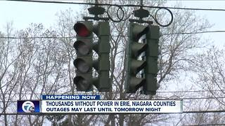 Thousands without power in Erie, Niagara Counties - Video