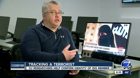Scientists at CU Denver help journalists independently confirm identify of masked ISIS militant