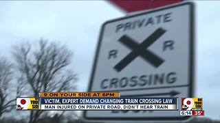 Victim, expert demand changing train crossing law - Video