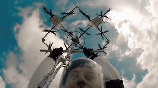 Skydiver Completes World's First Drone Jump - Video