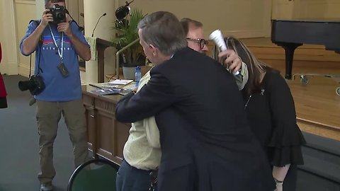Former Colorado Gov. John Hickenlooper meets with mass shooting survivors, families of victims
