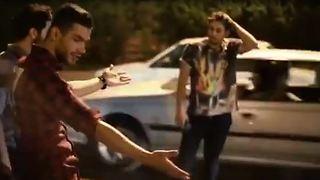 Car accident scene turns into a dance club - Funny - Video