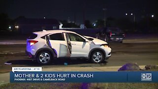 PD: Two children, one adult injured in hit-and-run in west Phoenix