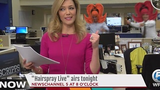 Hairspray photo bomb on The Now South Florida - Video