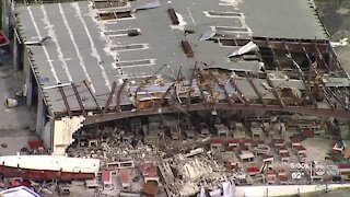 Pinellas Park businesses cleaning up after EF-2 tornado tears through industrial park
