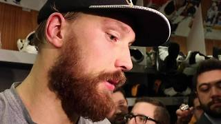 Sabres goaltender Anders Nilsson discusses win against Flyers