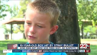 10-year-old boy hit by stray bullet - Video