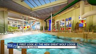 Great Wolf Lodge Illinois releases water park slide renderings - Video