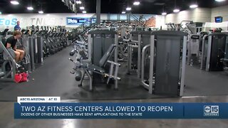 Two Arizona fitness centers allowed to reopen