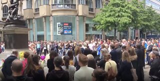 Mancunians Observe Minute's Silence on Second Anniversary of Arena Attack