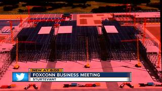 Hundreds gather to learn how to cash in on Foxconn project - Video