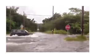 Flash Floods Seen as Outer Rings of Hurricane Lane Hit Puna, Hawaii