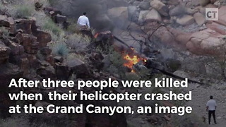 Images Show Woman Escaping Helicopter Crash - Video