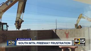 Residents angry at South Mountain construction noise - Video