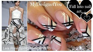 Beautiful black and white nail art - Video