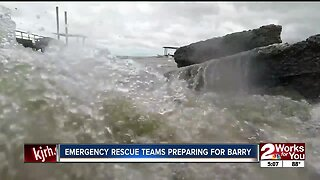 Emergency rescue teams preparing for Barry