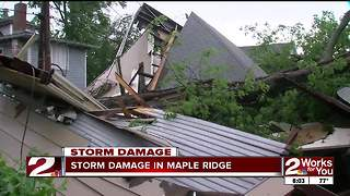 Storm devastates Tulsa neighborhood - Video