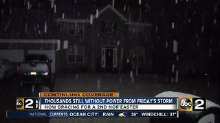 Thousands still without power from Friday's storm