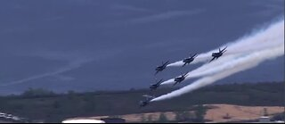 Thunderbirds and Blue Angels continue salute tour