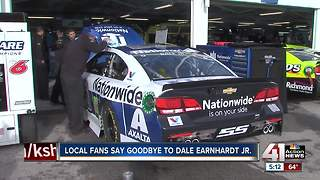 Local fans say goodbye to Dale Earnhardt, Jr. - Video