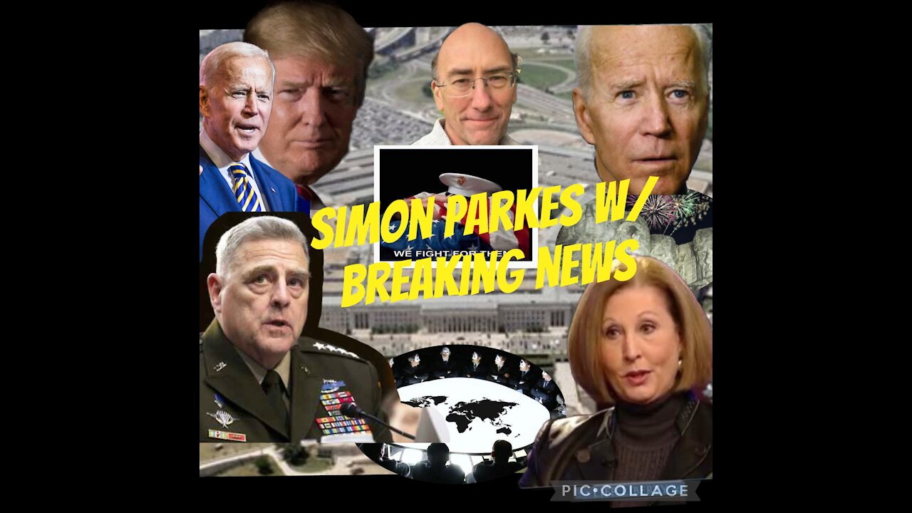 Simon Parkes Update: General Milley, Pentagon, White House Military Tribunals! - Must Video