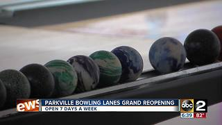 Parkville Lanes celebrates Grand Re-opening - Video
