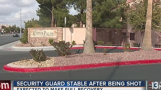 Security officer stable after shooting - Video