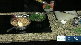 Shape Your Future Healthy Kitchen: Bulgur Wheat Bean Bowl with Greens
