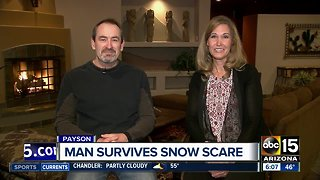 Couple speaks out after Valley man nearly buried by snow
