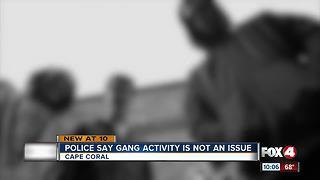 Police Say Gang Activity is Not an Issue - Video