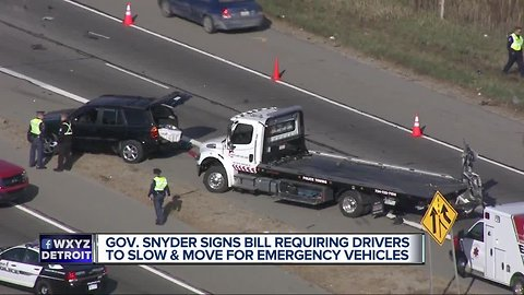 Law: Michigan drivers must slow by 10 mph to pass emergency vehicles