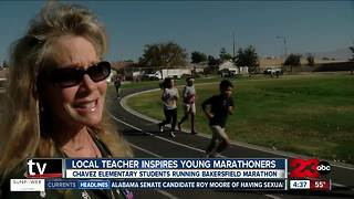 Chavez Elementary students running Bakersfield Marathon - Video