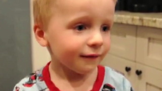 Toddler Cuts Hair to Look Like His Dad - Video