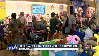 Build-A-Bear stores overwhelmed by promotion - Video