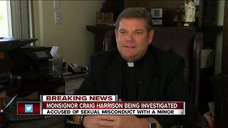 Monsignor Craig Harrison on Paid Administrative Leave due to investigation into sexual misconduct with minor