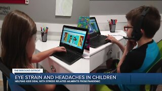 Doctors seeing more eye strain and headaches from virtual learning and screen time during pandemic