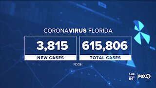 Coronavirus cases in Florida as of August 28th