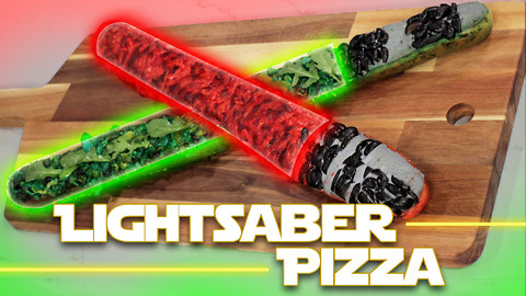 Star Wars Jedi & Sith French Bread Lightsaber Pizza! Use the Fork, Luke! | WIP?