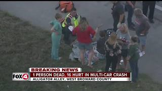 Multi-vehicle crash on Alligator Alley leaves 1 dead, 16 injured - Video