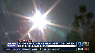 Code Red Extreme Heat Warning issued Saturday in Baltimore