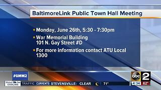 BaltimoreLink town hall scheduled for Monday night - Video
