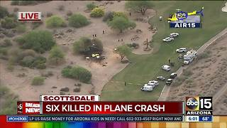 Air15 over deadly plane crash in Scottsdale - Video
