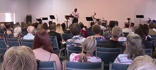 Church holds service after earthquakes