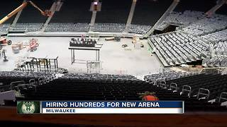 Milwaukee Bucks to hire around 1200 part-time positions for new arena - Video