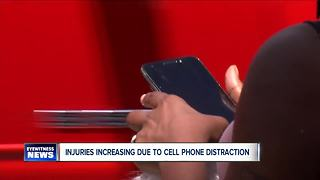 Distracted cell phone use causing more injuries - Video