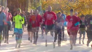 Wounded marine running 31 marathons in 31 days - Video